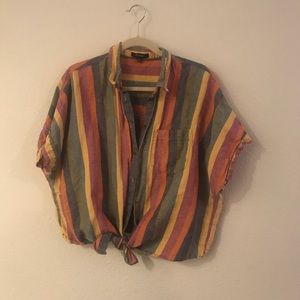 Madewell XXL button down multi color top